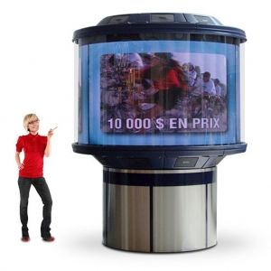 Werben wie in New York mit den 360 Grad LED-Video-Displays in versch. Größen! Wenn Sie es sensationell mögen - gleich reinklicken unter http://www.awag.de/LCD-und-LED-Displays/360-Grad-LED-Video-Displays---176_137.html
