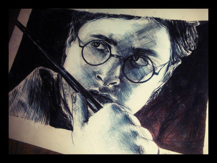 Drawing Harry Potter Portrait / Portret