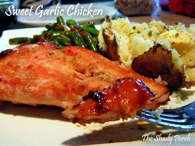 Sweet Garlic Chicken - This is a quick and easy weeknight supper...definitely a 30 minute meal