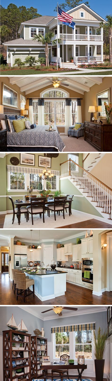 The Whitham by David Weekley Homes in Carolina Park is a 5 bedroom home that features hardwood floors, lots of natural light and a large covered porch. Custom home options include a screened in porch, a fireplace, or rustic chic beams in the owners retreat.