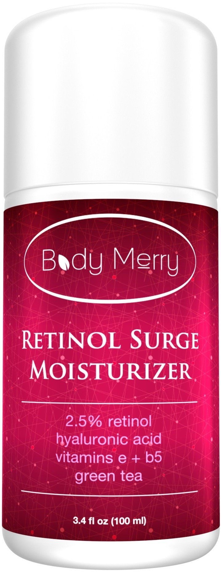 RETINOL MOISTURIZER - Professional Grade 2.5% Retinol Cream with Vegan Hyaluronic Acid, Green Tea, Vitamin E and Vitamin B5 - BEST Natural & Organic Anti-Aging Facial & Neck Firming Moisturizer for Wrinkles, Fine Lines, Acne and Dark Spots - Evens your skin tone for a Youthful and Radiant Glow