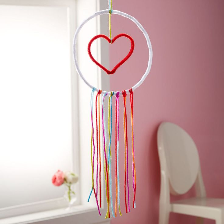 This mobile makes for an easy kids project and will add some valentine flare to the classroom or bedroom. Click in to read Michael's DIY kids Valentine's Day mobile tutorial.