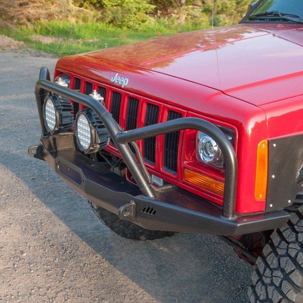 Manta Ray Front Winch Bumper Grille Guard Hoop Jeep Xj Mj Winch Bumpers Jeep Bumpers Jeep