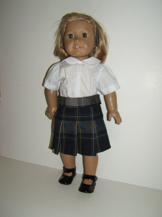 American Girl Doll School Uniform Skirt Plaid 87 by SimoneFranklin, $24.00