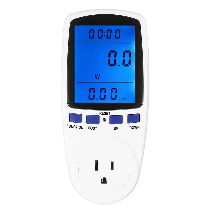 Newforshop Electricity Usage Monitor Power Meter Plug Home Energy Watt Volt Amps KWH Consumption Analyzer with Digital LCD Display Overload Protection (Blue)