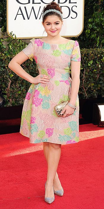 Ariel Winter. I think it's a bit too cupcake-y. I do like the dress, it is fun. I am conflicted. Life is hard.