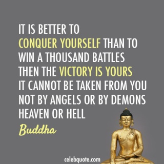 Buddha Quote (About war victory success conquer battles)
