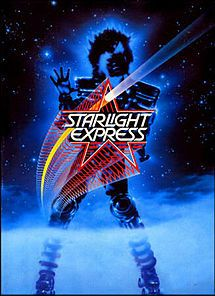 Starlight Express - Wikipedia, the free encyclopedia 1987 Andrew Lloyd Webber Musical where the performers were trains on roller Skates I saw it and the staging was great but the music was terrible