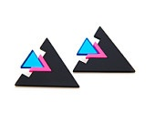 80's inspired earrings from Angle Dust.: Inspiration Earrings, Blitz Earrings, Fab Com, Laser Cut, Acut 80S, 80S Style, Style Jewelry, Fashion Inspiration, 80 S Inspiration