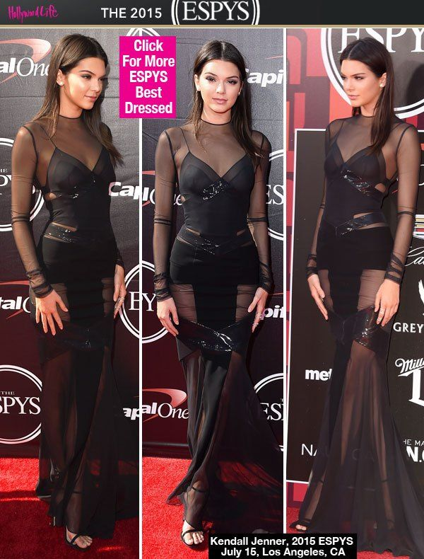 f5e2013c13a Kendall Jenner s ESPY Awards Dress  Sizzles In Daring