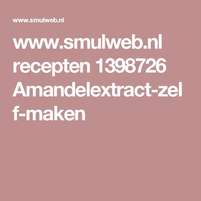 www.smulweb.nl recepten 1398726 Amandelextract-zelf-maken