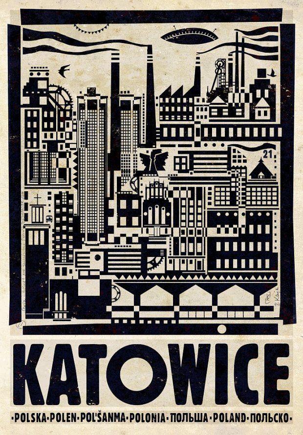 Katowice - poster by ryszard kaja