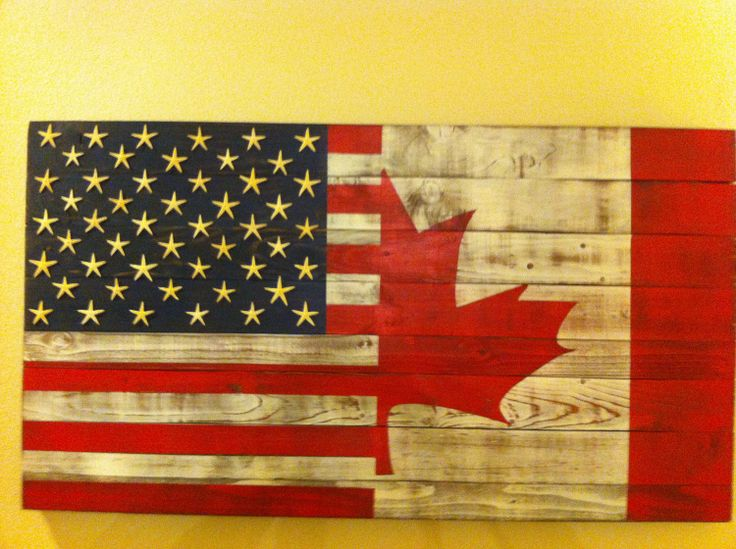 48 x 26 Half USA half Canadian Flag by WestCoastPatriot on Etsy, $219.00