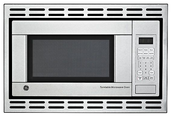Ge 1 1 Cu Ft Built In Microwave Oven In Stainless Steel The