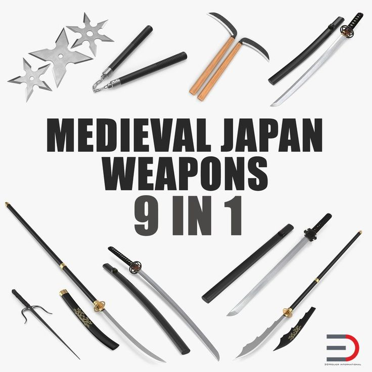 Medieval Japan Weapons Collection 3D model