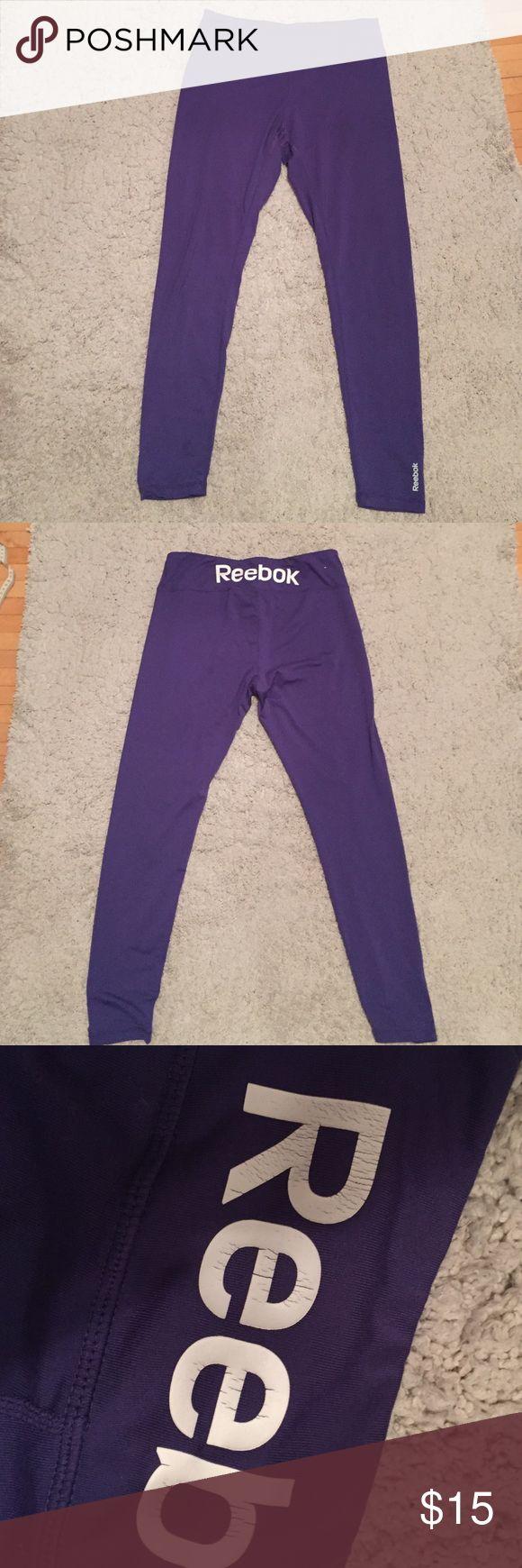 Gym leggings Purple reebok leggings slightly worn as shown Reebok Pants