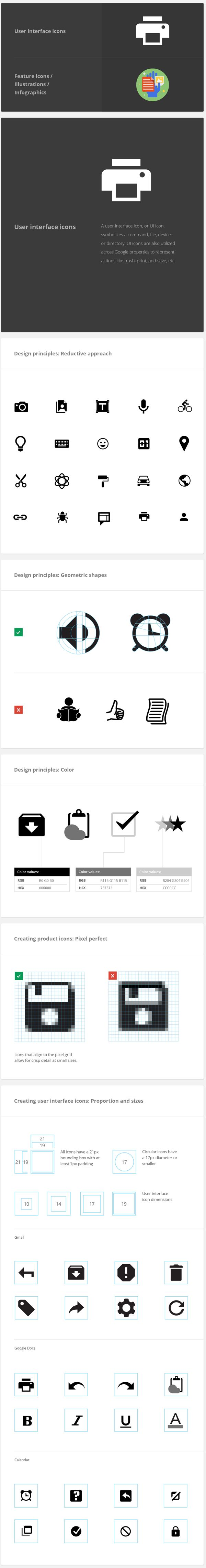 Google Visual Assets Guidelines - Part 2 by Roger Oddone, via Behance