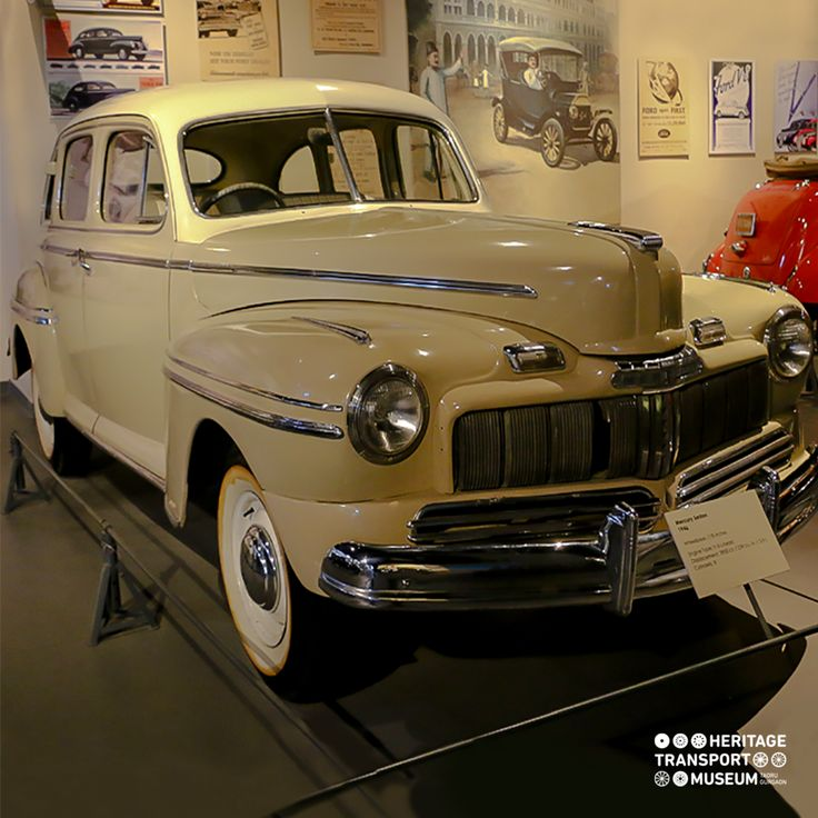 The 1946 Ford Mercury Sedan offered a facelift of 1942 Mercury combining the sleek style, with fancy interiors and a high style grille. This model was offered in the immediate post-war period.  #vintagecars #vintagevehicle #vintagecollection #transportmuseum #incredibleindia #heritagetransportmuseum