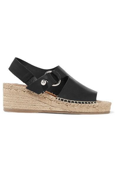 b23ea7d9aee rag   bone - Arc Leather Espadrille Wedge Sandals - Black in 2019 ...