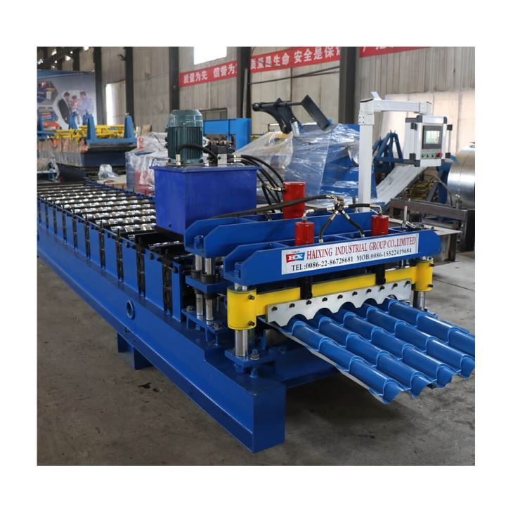 China Steel Glazed Roof Panel Step Tile Cold Roll Forming Machine Manufacturers Suppliers Price Haixing In 2020