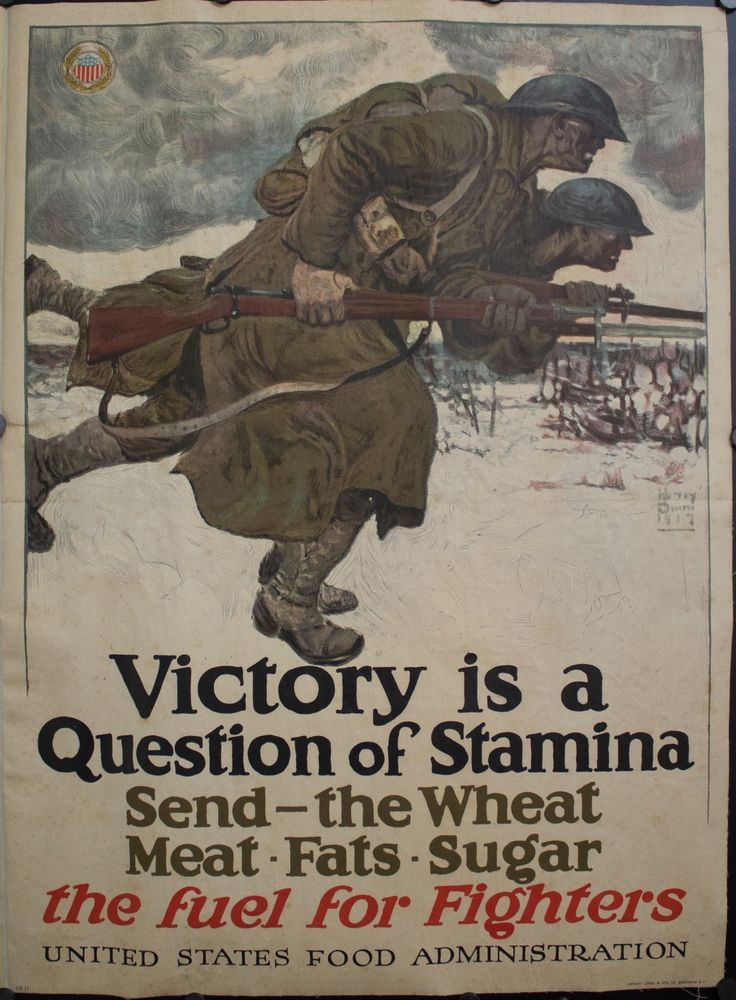 Details About 1917 Victory Is A Question Of Stamina Send The Wheat