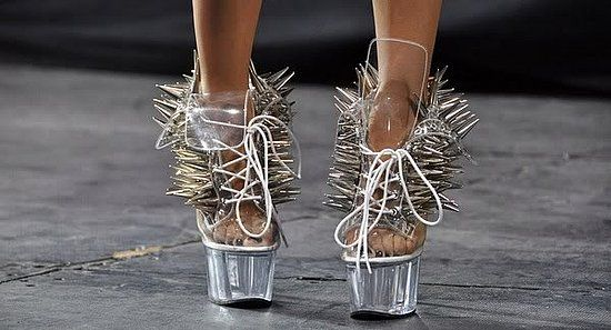 Not someone you can mess around with. http://fashion-musings.onsugar.com/crazy-shoes-16622147