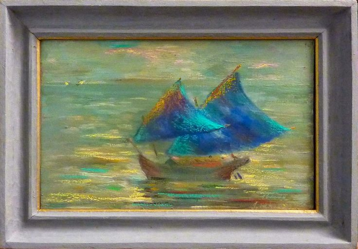 a color corrected version of earlier paintings.It is a indonesian boat I found on passing their waters  in 1989