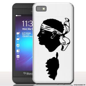 Coque blackberry z10 Corsica - Housse rigide pour téléphone portable. #Coque #Cover #BlackBerry #Z10 #Corse