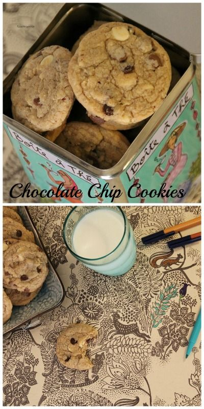 How about som milk & cookies?  Triple Chocolate Chip Cookies with Hazelnut flour.