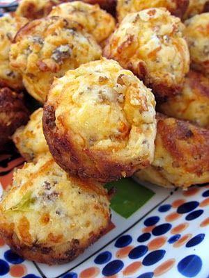 Sausage and cheese muffins! Yum!