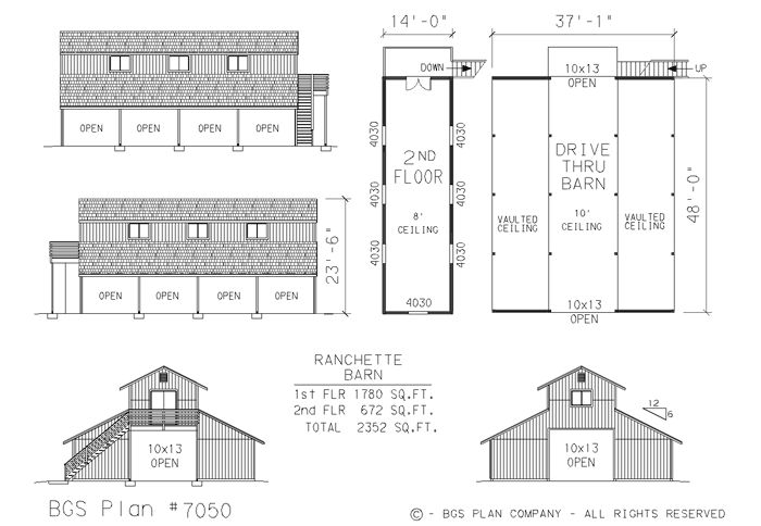 Barn plans barn plans garage plans storage building for Monitor style barn plans