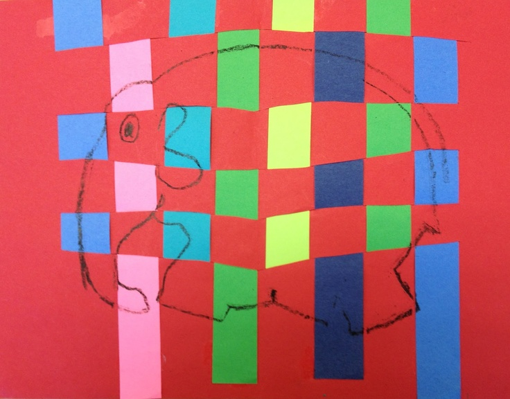 Simple weavings inspired by Elmer the Patchwork Elephant #MyElmer