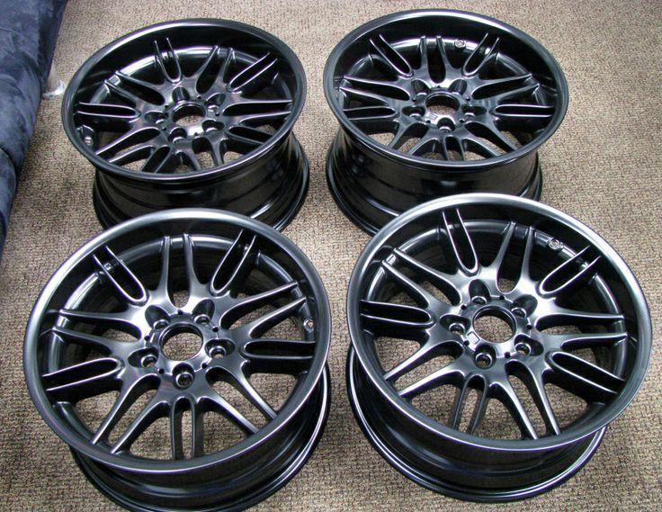 Satin Black Powder Coated BMW Wheels - http://www.thepowdercoatstore.com/powder-coating-powder/satin-black-powder-coat