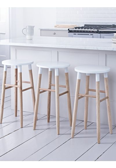 NEW Raw Oak Bar Stool - White - Stools & Chairs - Kitchen