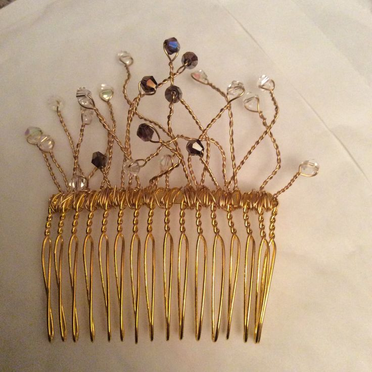 Wire work comb.  First attempt and is one of a pair