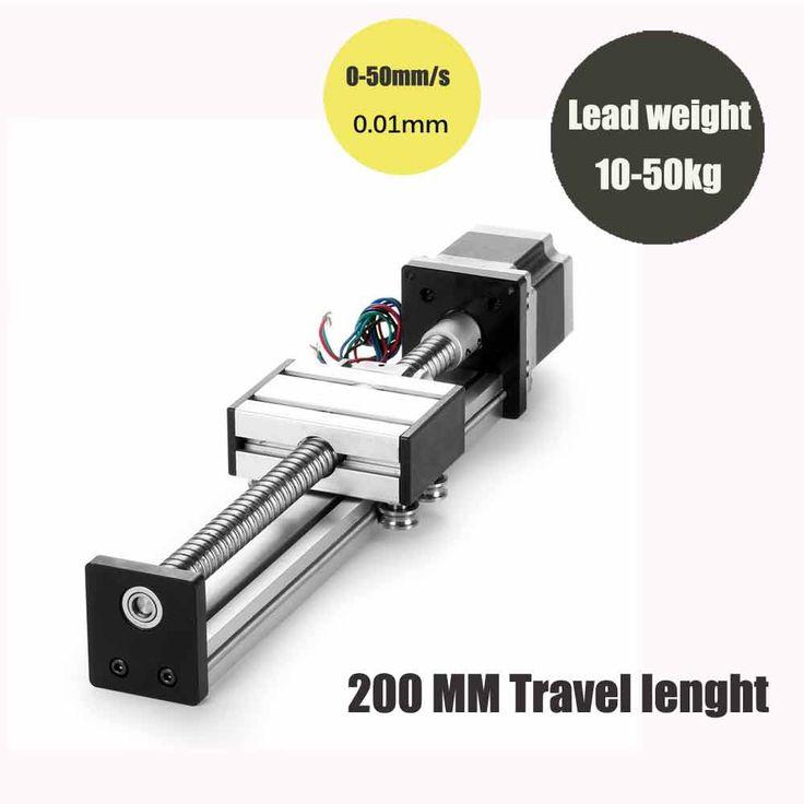 Системы линейного путешествия длина 200 мм линейный система швп SFU1605 + Nema23 шаговый двигатель