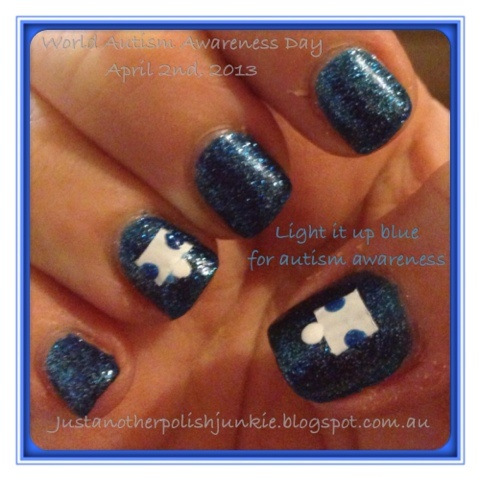 Just Another Polish Junkie: Light it up blue for autism awareness!