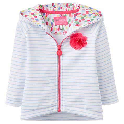 Buy Baby Joule Alicia Stripe Zip-Up Hoodie, Blue/White Online at johnlewis.com
