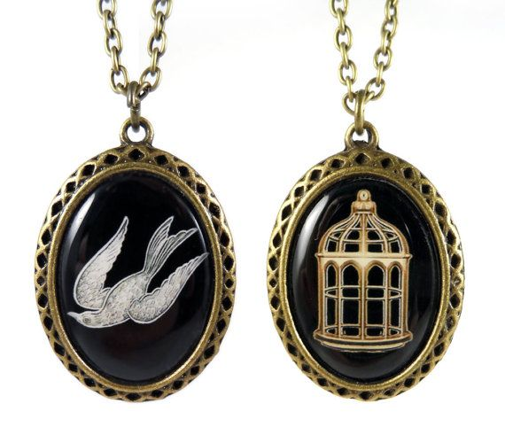 Bioshock Infinite Bird/Cage Necklace by leagueofshadows on Etsy, $13.00. OMG. So much want!!!!