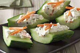 Cream Cheese 'n Herb Cucumber Bites recipe