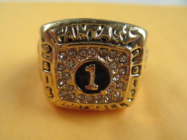 Drop Shipping 2012 Fantasy Football League Super Bowl Championship Ring Sports Jewelry Size Big 11 Men Sports Jewelry