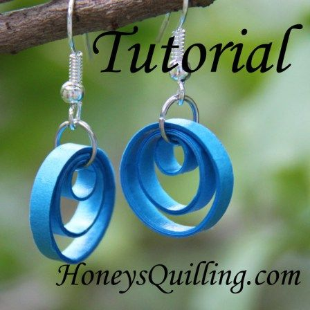 free tutorial for making these adorable paper quilled earrings