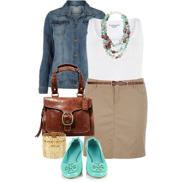 Casual Friday - Plus Size by alexawebb on Polyvore featuring Tory Burch, BCBGMAXAZRIA, Stella & Dot and plus size