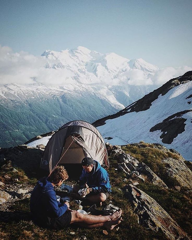 Camping on the mountains