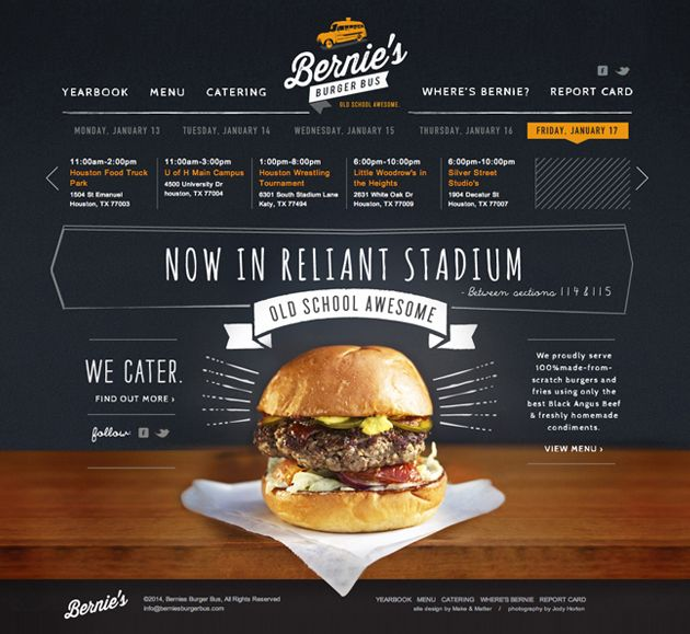 http://berniesburgerbus.com/ | #webdesign #it #web #design #layout #userinterface #website #webdesign #soccer sports < repinned by www.BlickeDeeler.de | Visit our website www.blickedeeler.de/leistungen/webdesign