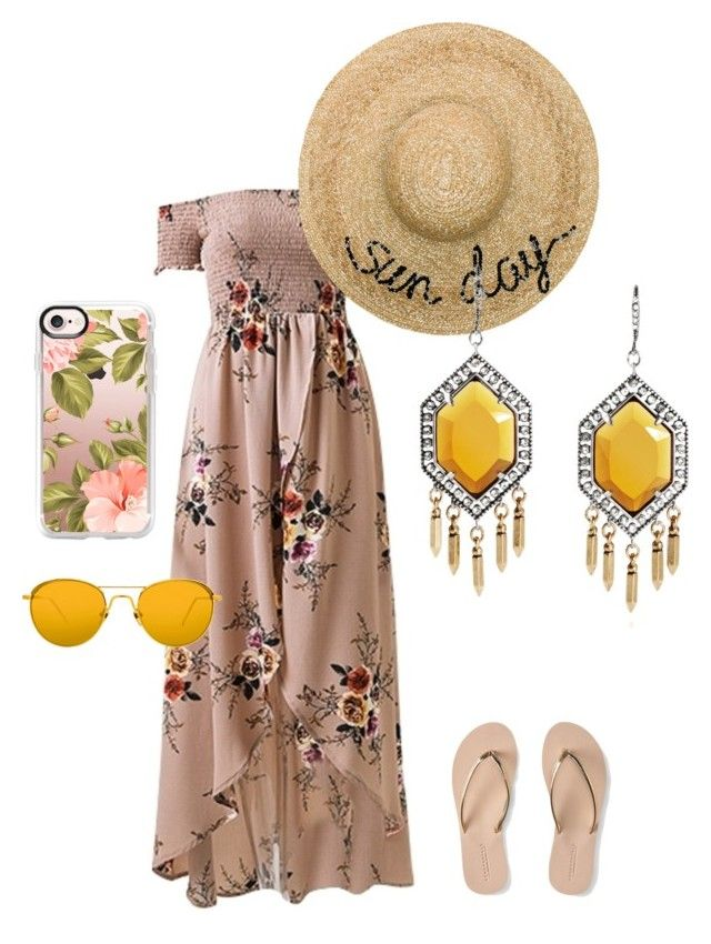 weekend beach outfit by creative-esprecielo on Polyvore featuring Aéropostale, Eugenia Kim, Casetify and Linda Farrow