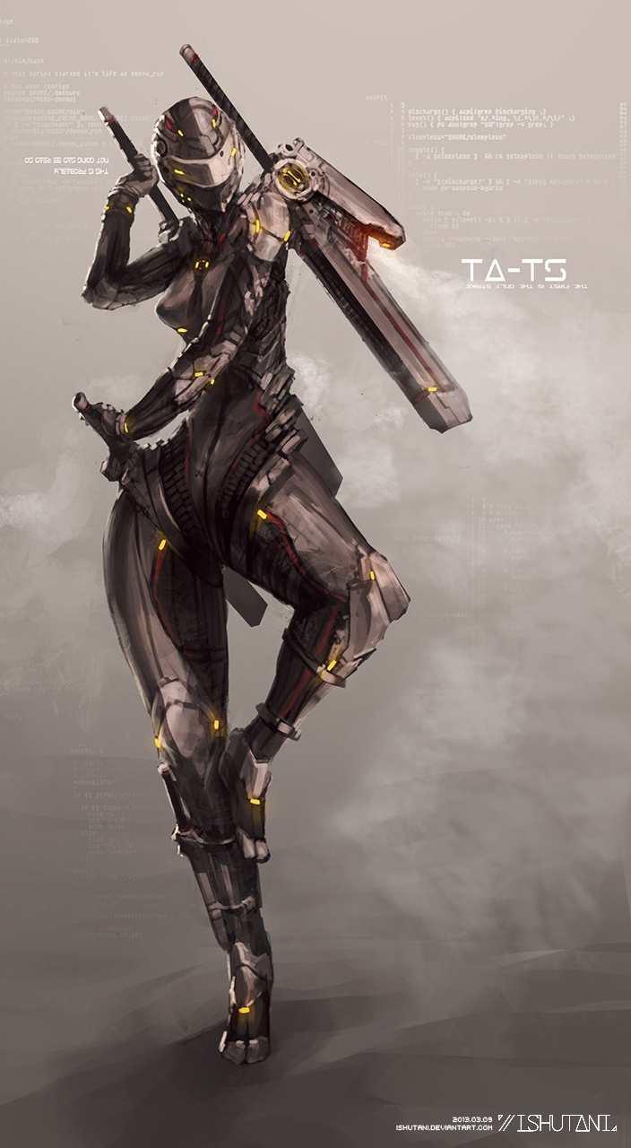 Sci-Fi warrior concept art