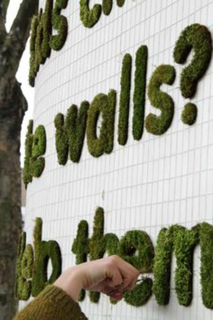 Moos Graffiti streetart künstler botschaft