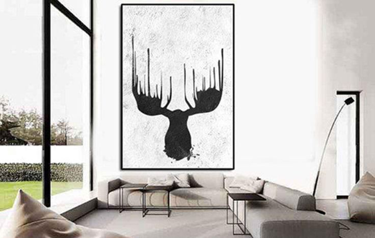 Make a strong statement in your home with silhouettes of animals and plants. In black and white they look miminalist but still entirely enchanting.