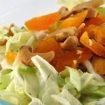 Spitskool salade met kip en avocado